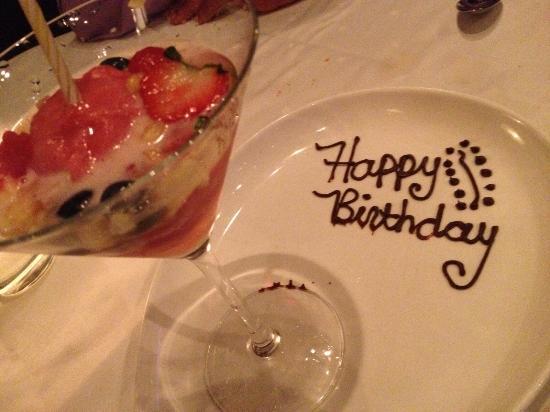 Joe Muer Seafood: Birthday Dessert brought