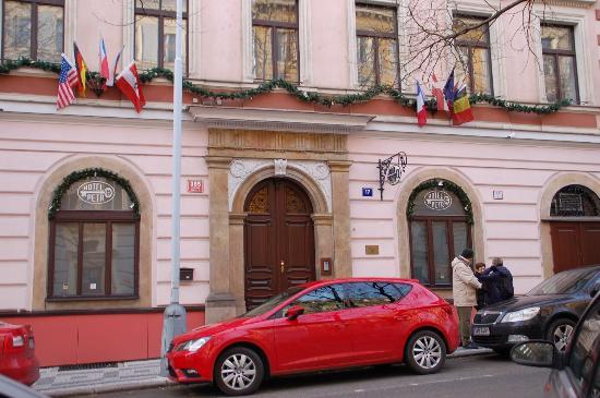 Hotel Petr w friends outside