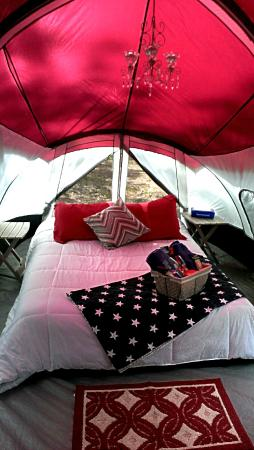 Cree Canyon Outfitters: Chandelier inside your tent for ultimate luxury