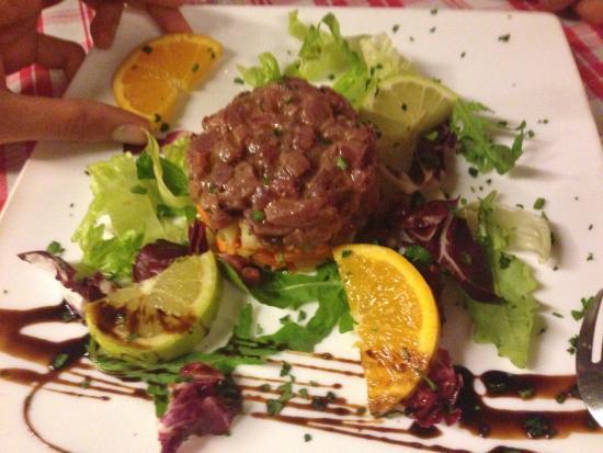 La Mucca Bischera: tartar de atún