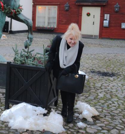 Elite Stora Hotellet : Bit of snow :)