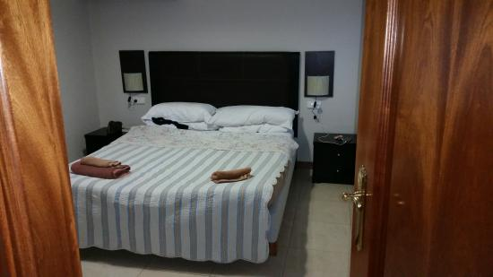 Riviera Park Apartments : main bedroom,bed was comfy enough just needs updating and painted