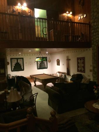 """Tucker Peak Lodge: The 'Lounge"""" and check in area"""