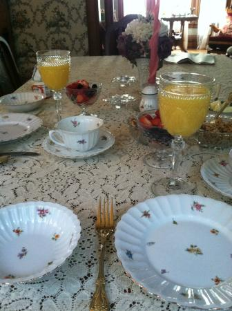 LeBlanc House Bed and Breakfast: breakfast