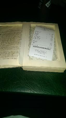 The North Star: Receipts are given hidden in books :)