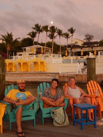 Romora Bay Resort & Marina: Some of our group watching the sunset from the dock
