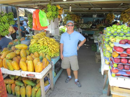 San Ignacio Market: Myself in front of fruit stand