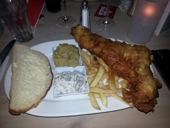 The Montgomery: Traditional Fish & Chips. Delicious.