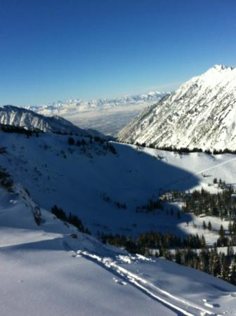 Alta Ski Resort: View from route to East Greeley Bowl