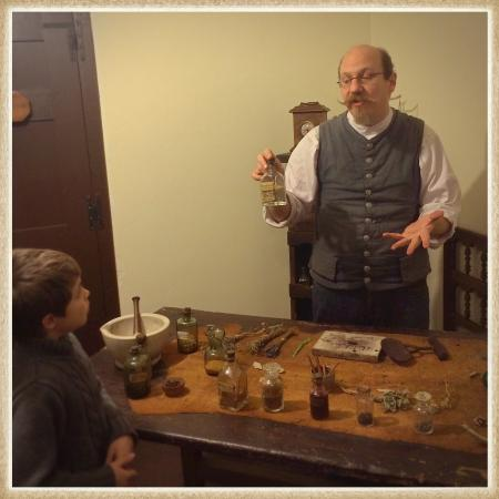 Spanish Military Hospital Museum: Tour guide Nick explains 18th century medicine to my son