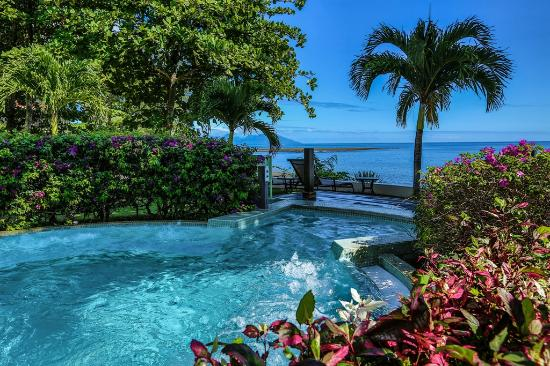 Tahiti Pearl Beach Resort Public Jacuzzi With View On Moorea