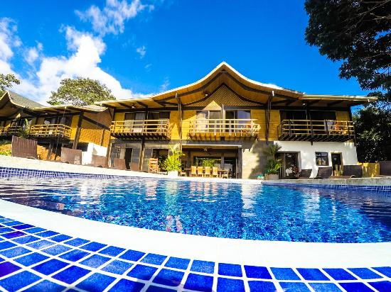 Kalon Surf - Surf Coaching Resort: Take in the beautiful pacific ocean views at our infinity pool