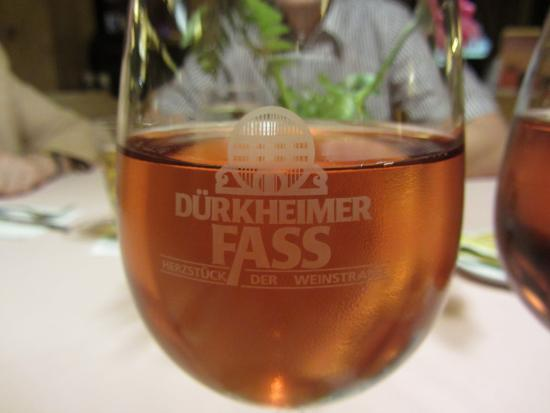 Durkheimer Fass Herzstuck der Weinstrasse: A good glass of wine!!!