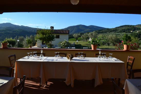 La Rosa Blu: Agriturismo, terrazza e vista panoramica