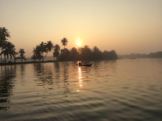 Sunrise at Ayana's Homestay in backwater