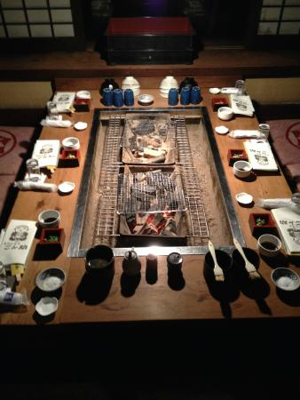 Gonsuke: The grill in the individual room
