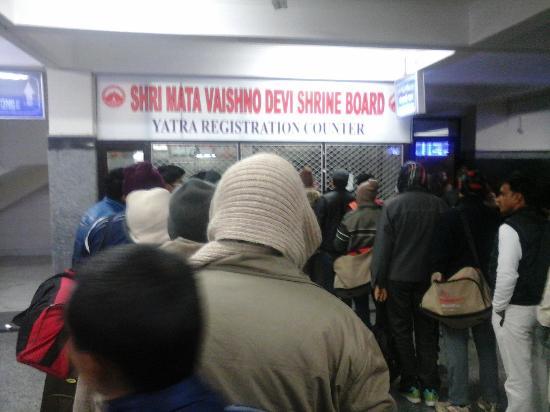 Vaishno Devi: Yatra Parchi counter at station