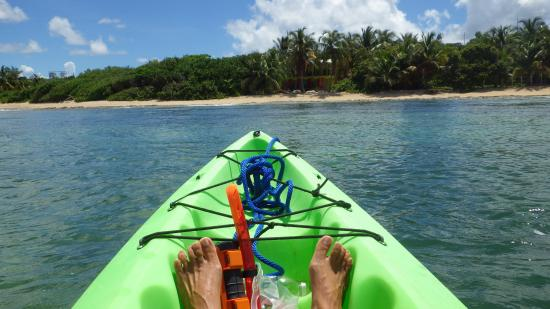 Ababor Suites: View of the beach from kayak