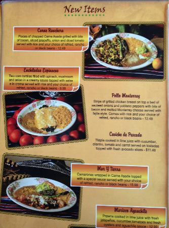 Jalisco's Mexican Restaurant No. 2: Menu