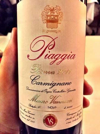 Ristorante Da Cono: Vinho sugerido Piaggia 2011