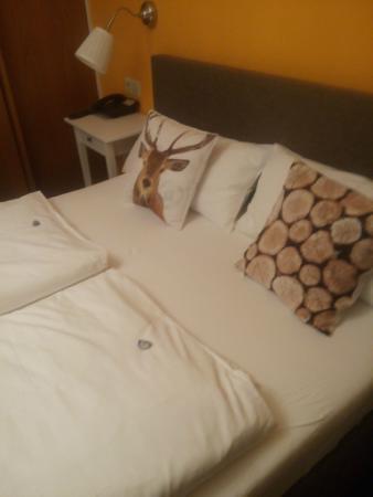 Landgasthof Hirsch: При заселение на кровати были шоколадки :)