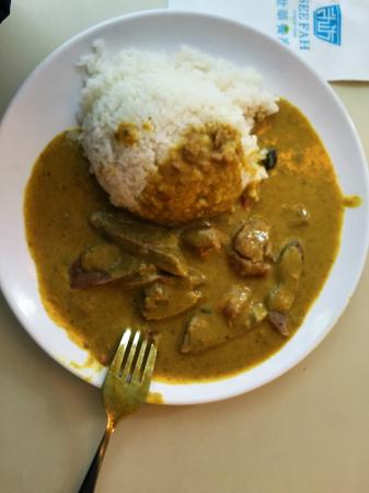 See Fah Restaurant: Ox Tonge with Rice in Curry Sauce