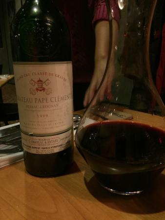 Grub Steak Restaurant : 1999 Chateau Pape Clement
