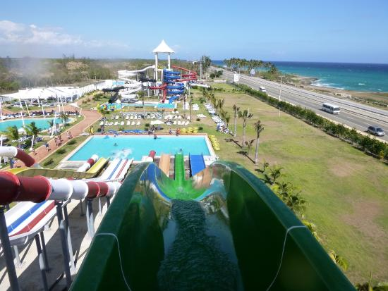 Los Delfines Water & Entertainment Park: view from highest