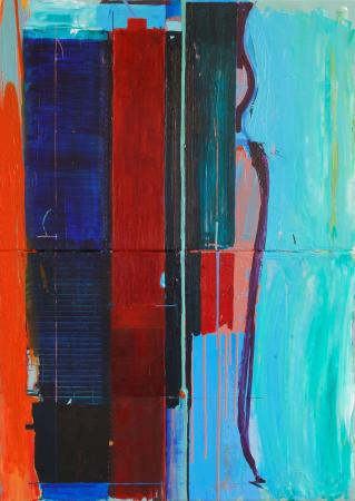 Whitchurch-on-Thames, UK: Ashley Hanson  City of Glass 21 Nowhere  140 x 120cm  oil on canvas