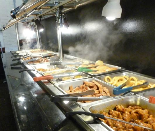 Hong Kong Buffet: One of Several Food Lines...
