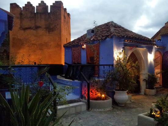 Hotel Hicham: Terraza