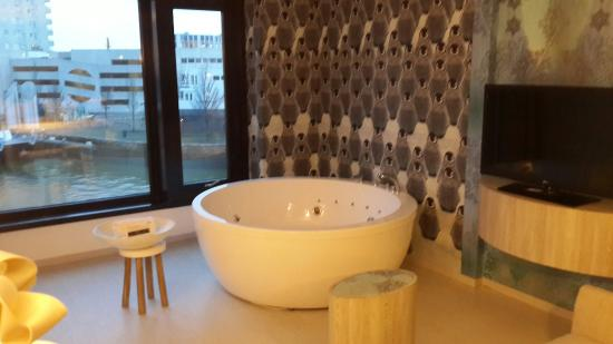 Jacuzzi inside the room picture of hotel mainport for Mainport design hotel leuvehaven 77 rotterdam