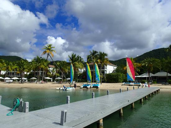 Carlisle Bay Antigua: Beach and the water sport facilities
