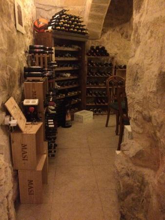Zero Sei Trattoria Romana: Wine cellar private table