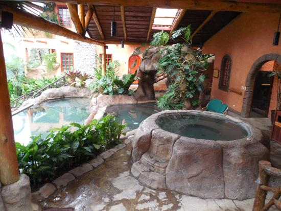 Swimming Pool With Jacuzzi And Waterfall Outside My Room Picture Of Peace Lodge Heredia