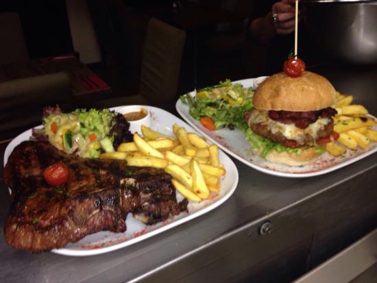 Meet Argentinian Steak House: Tbone and burger