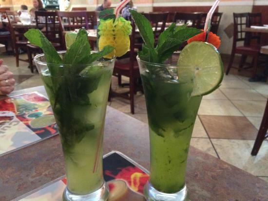 Casa Juan Restaurant : Our Mojitos!  Viva Cuba!