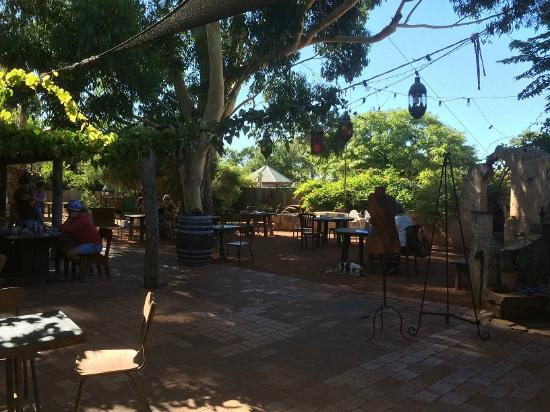 Taylor's Cafe : Part of the courtyard, plenty more seating both inside and outside available