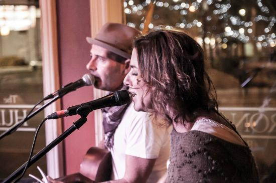 The Huron Club: The Karla Crawford Duo playing in the lounge