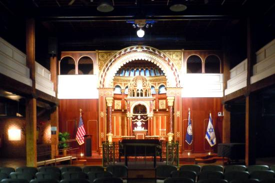 Virginia Holocaust Museum: The Lithuanian choral synagogue replica in the auditorium.