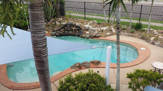 Dolphin Waters : View from Unit 11 to pool area