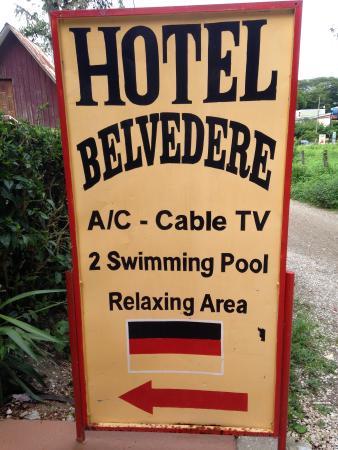 Hotel Belvedere - Playa Samara: Sign for Hotel Bellevedere