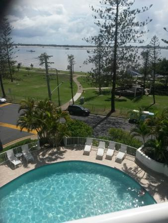Crystal Bay on the Broadwater: View from our balcony