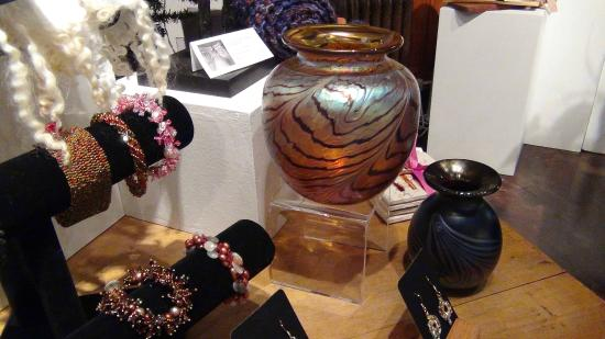 Carnegie Art Center: Pieces of art by local designers, for sale in the gift shop