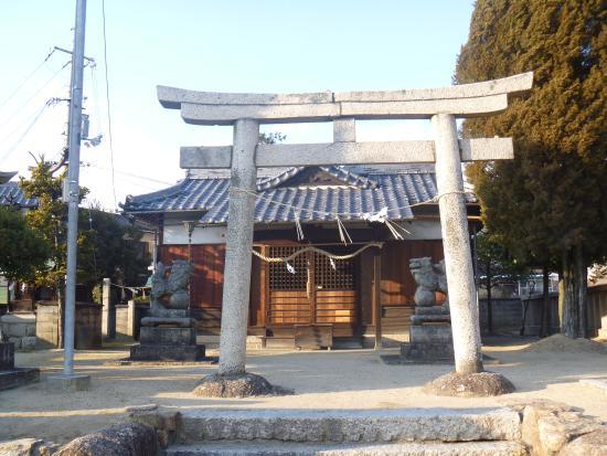 """Hayashima-cho, ญี่ปุ่น: """"龍神社""""隣の拝殿"""