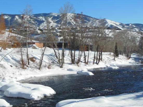 Yampa River Core Trail: Steamboat Ski area from the Yampa River