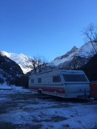 Camping caravaneige Les Lanchettes : Utsikt från husvagnen