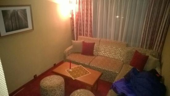 Hotel Breza: Bedroom lounge area