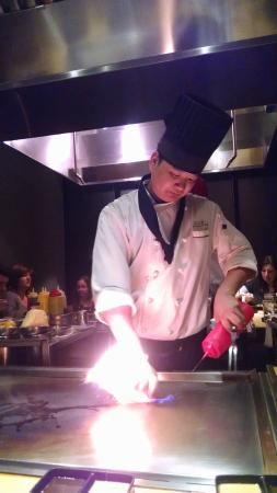 Ooka Japanese Sushi & Hibachi Steakhouse: Our chef!