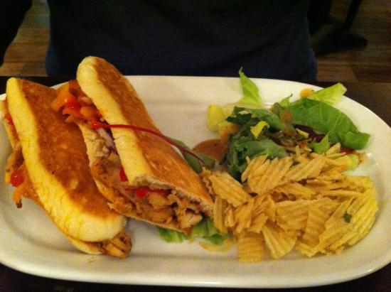 The Lazy Bean Cafe: Sandwich and Chips